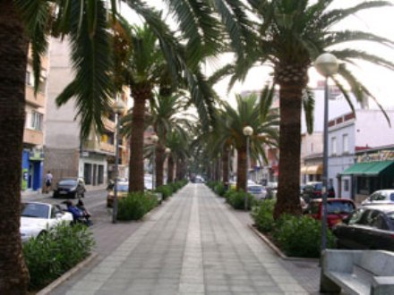 Paseo del Saladar in Denia